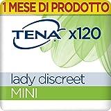 TENA Discreet Mini Pacco Scorta Mensile - Assorbenti per perdite urinarie femminili, discreti e confortevoli, 6 confezioni x 20 pezzi