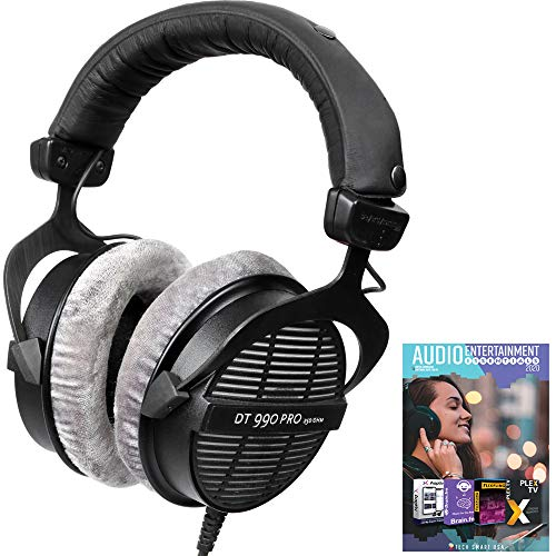beyerdynamic 459038 DT-990-Pro-250 Professional Acoustically Open Headphones 250 Ohms Bundle with Tech Smart USA Audio Entertainment Essentials Bundle 2020