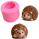 3D Cute Hedgehog Soap Mold Craft Art Silicone Soap Mold DIY Handmade Candle Mold Chocolate Plaster of Paris Mould