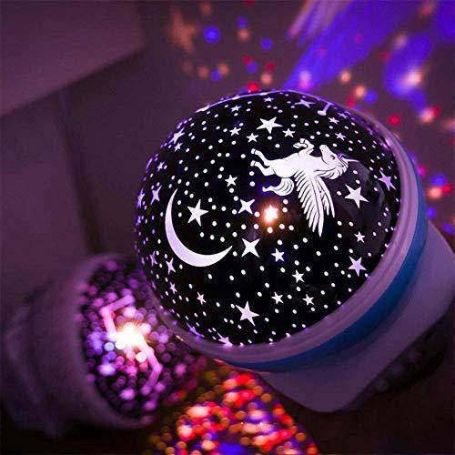 CJB18 proyector de Unicornio, luz Nocturna para niños, lámpara de ...