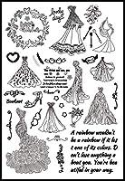 熱い販売の人魚の結婚式のアルファベット透明なクリアスタンプ/シリコーンシールローラースタンプDIYスクラップブックアルバム/カードの生産