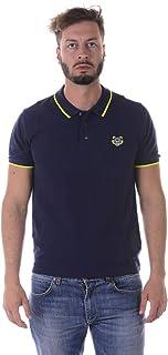 Kenzo Tiger's Head Cotton Piqué Polo Shirt - Blue - Medium