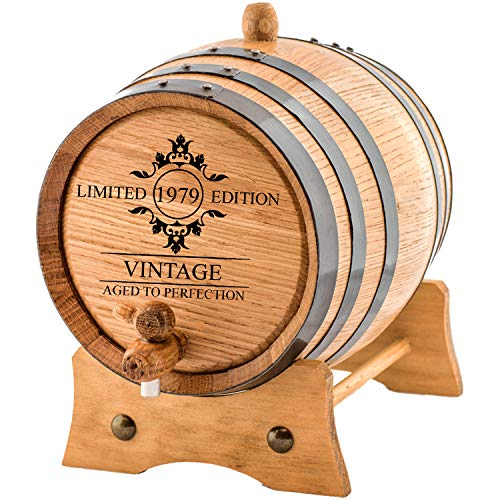 Personalized - Limited Edition Custom Engraved American Premium Oak Aging Barrel - Whiskey Barrel | Age your own Whiskey, Beer, Wine, Bourbon, Tequila, Rum, Hot Sauce & More (1 Liter)