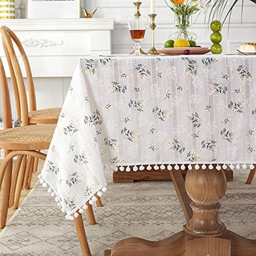CYYyang fácil de Limpiar, para jardín, Habitaciones, decoración de Mesa, Idílico pequeño Jacquard de algodón Lila Fresco