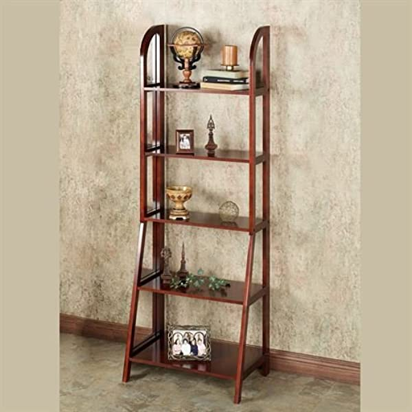 Touch Of Class Kimber Tall Ladder Shelf Only Classic Cherry 5 Shelf