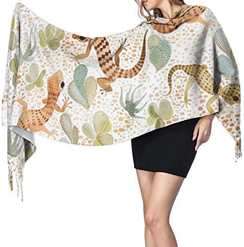 Woestijn Lizard Zachte kasjmier sjaal Wrap sjaals lange sjaals voor vrouwen Office Party Reizen 68X196 cm