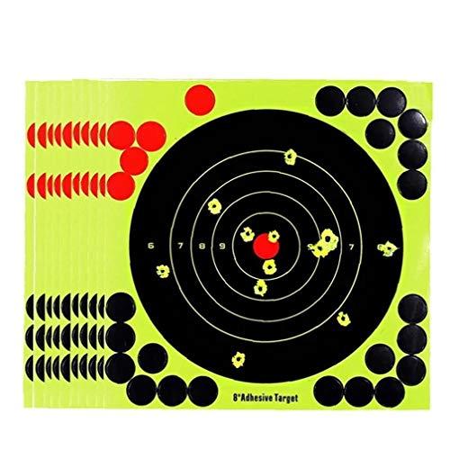 LAVALINK 10pcs Prismas De Lámina De Disparo De Papel Adhesivo Reactivo Salpicadura De Objetivos Pegatinas Rifle Meta 8 Pulgadas
