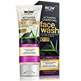 WOW Activated Charcoal Face Wash - Deep Cleanser For Normal, Dry, Oily Skin & Acne Pore Minimizer, Men, Women & Teen - Daily Facial Wash For Exfoliating Moisturizer - Sulfate, Paraben Free - 100ml