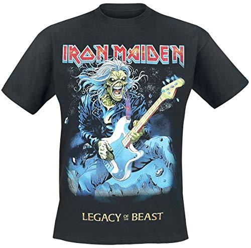 Iron Maiden Eddie On Bass Uomo T-Shirt Nero L 100% Cotone Regular