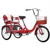 Erwachsenendreirad Erwachsene Dreirad 3 Radfahrräder für Erwachsene, Falten Erwachsene Dreirad Drei Rad Fahrräder Cruiser Bike Erwachsene Trikes 20 Zoll 3 Radfahrrad mit Einkaufswagen für Senioren, Fr