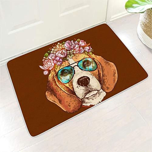 Bohohobo Felpudo con diseño de flores para perro, estilo hordico, ideal como regalo para Año Nuevo para los amantes de 45,7 x 71,1 cm