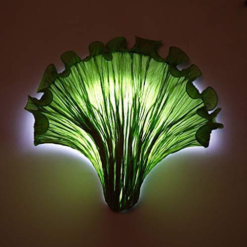 WY-YAN Mur méditerranéen romantique Creative Tissu conduit lampe de mur, Lampe restaurant The Living Room Lampe Chambre chevet Aisle Escalier Balcon lampe, vert (Color : Green)