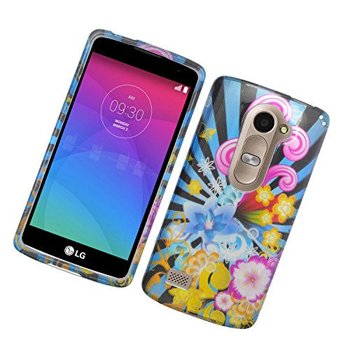 Eagle Cell Phone Case for LG Tribute 2 LS665/Leon C40/Power L22C - Retail Packaging - Colorful Firework