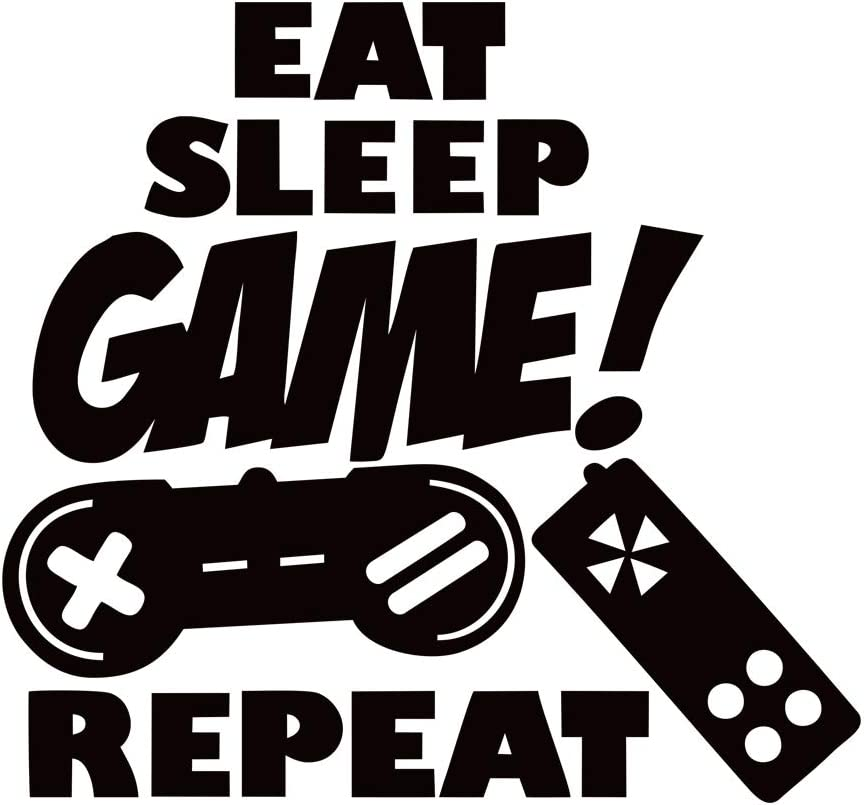 Eat Sleep Game Wall Decals Removable Sticker Room Vinyl lowest price Fashionable Pla Boys