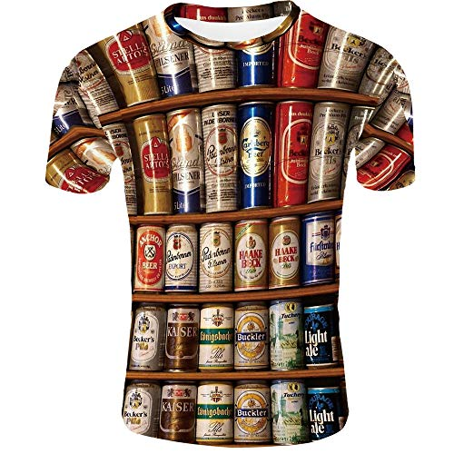 Heren Compressie Shirt Tide Merk Ademend en sneldrogend Half-Sleeved Gedrukte Coke blikjes
