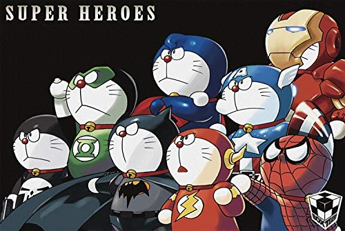 Wsjdmm Rompecabezas de Madera for Doraemon Cos héroe 300/500/1000 Piezas, Regalos del día de Adulto Regalo Creativo de descompresión Rompecabezas de Dibujos Animados Juguetes educativos for niños