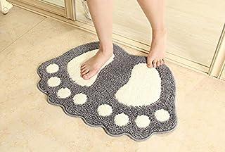 Jian Ya Na Alfombrilla de baño de Microfibra Suave para el baño, Alfombrilla Antideslizante para Puerta de baño, Alfombril...