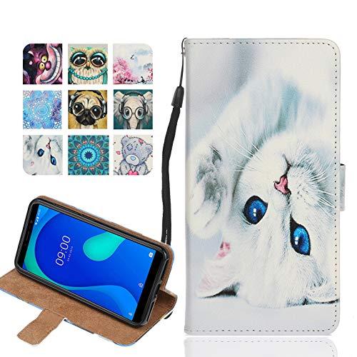 Langlee Custodia per Wiko Ufeel Prime, Cover in PU Pelle Premium Portafoglio Supporto Flip Case con Chiusura Magnetica (Motivo C-4)