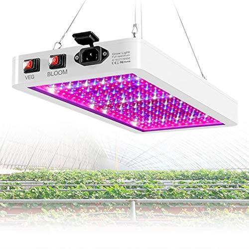 Lámpara de Planta, 1000W Lámpara de Planta Espectro Completo LED Lámpara de Cultivo de Plantas, Lámpara de Crecimiento Grow Light Indoor para siembra, Crecimiento, floración y fructificación,1000W