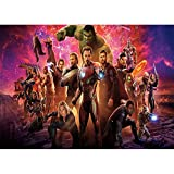 Photo Background Galaxy Infinity War Backdrop Marvel Avengers Theme Photography Backdrop Happy Birthday for Kids Customized Tabletop Banner Seamless Studio Prop