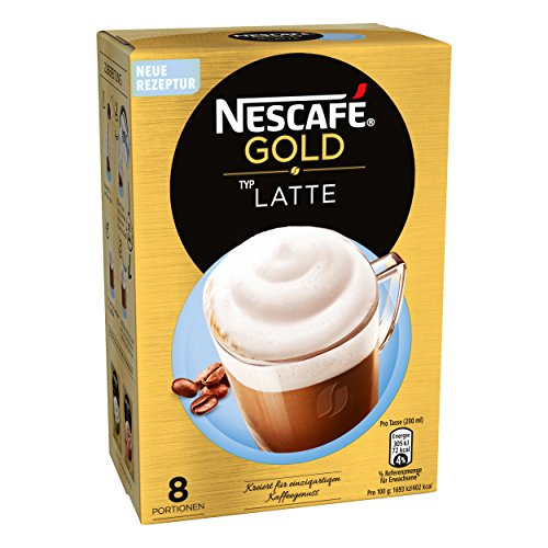 Nescafé Gold Typ Latte, Löslicher Bohnenkaffee, Instantkaffee, Kaffee, 8 Portionen, 12311716