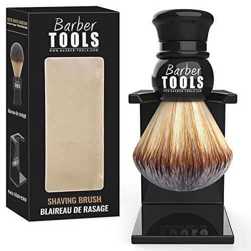 Barber Tools Pennello da Barba con Portamonete in Setole Sintetiche, Diametro 23 mm