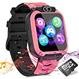 Kids Smart Watch for Girls Boys, Child Smartwatches for Kids Educational, HD Touch Screen Games Watch Children Electronic Learning Toys Birthday Gifts for 3-14 Years Students(Pink)