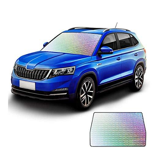 Ka-Cakus Parasol para coche, protección del parabrisas, cubierta exterior para la ventana delantera y lateral del coche, 4 capas, película reflectante de radiación térmica (S)