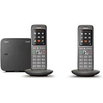 Gigaset CL660 Duo - Téléphone fixe sans fil - 2 combinés - Gris Anthracite
