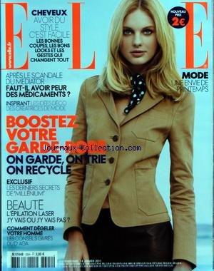 ELLE [No 3394] du 14/01/2011 - CHEVEUX / AVOIR DU STYLE - APRES LE SCANDALE DU MEDIATOR / FAUT-IL...