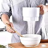 Tamiz de harina - Tamiz de Harina de Mano Eléctrico Tamiz Colador de Harina Operador a batería Cocina Cocina Hornear Herramientas de Pastelería