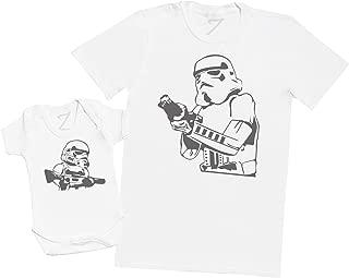 Regalo para Padres y beb/és en un Cuerpo para beb/és y una Camiseta de Hombre a Juego Zarlivia Clothing Mi Pap/á es un Rockero