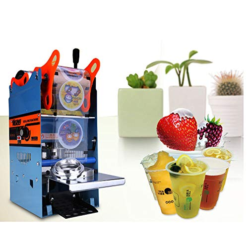 Electric Sealer, 220V 270W Semi-auto Plastic Drink Tea Cups Sealer Sealing Machine 300Cups/h for Coffee Milk Tea Cup Smoothies Sealer