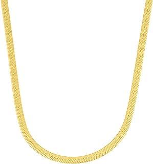 mens gold herringbone chain