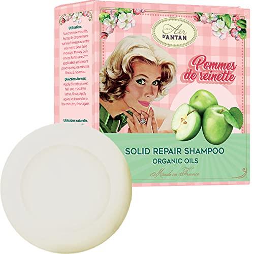 Shampoo Solido 80g Un Air d Antan   Profumo Mela Shampoo Naturale Di Riparazione Con Olio Di Argan Bio Shampoo Capelli Danneggiati Sfibrati Senza Solfati Shampoo Solido Naturale Capelli Secchi