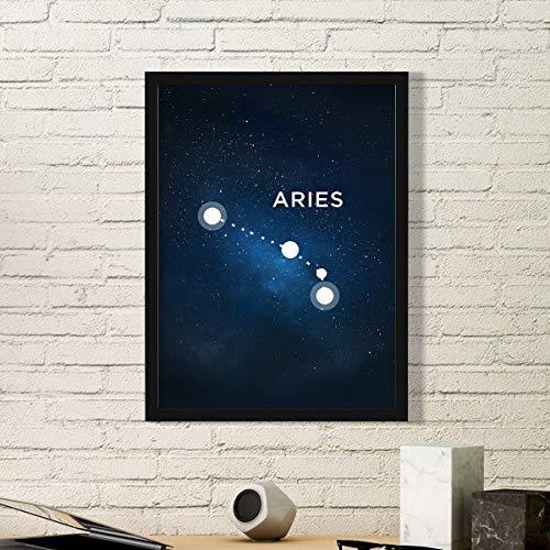 DIYthinker Ram Constellatie Zodiac Teken Eenvoudige Beeld Frame Kunst Prints Schilderijen Thuis Muursticker Gift