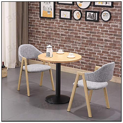 Salle À Dîner Bureau Table Et Chaise Combinaison De Cuisine 60 Cm Petite Table Ronde Loisirs Canapé en Tissu Seat Fast Food Shop Home Salon Lait Tea Shop Lounge Zone Bibliothèque Dessert Boutique