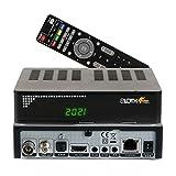 RED OPTICUM Sloth Combo 4K Kombi-Receiver I DVB-C DVB-T2 & DVB-S2 Receiver mit Aufnahmefunktion PVR I IPTV Receiver mit LED Display - HDMI - S/PDIF - Ethernet - USB - IR Sensor - LAN - 12V Netzteil