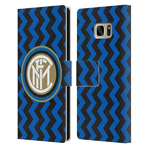 Head Case Designs Licenza Ufficiale Inter Milan in Casa 2020/21 Kit Crest Cover in Pelle a Portafoglio Compatibile con Samsung Galaxy S7 Edge
