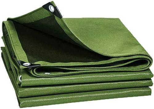 TAO Couverture de Camping en Plein air avec bache de Prougeection imperméable sur Un Côté avec Oeillets en métal, 9 Tailles pour Option (Taille   5x6m)