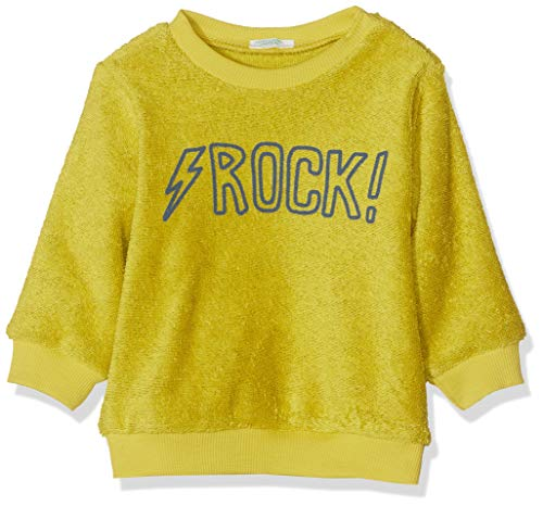United Colors of Benetton Rock BB B 3 Sudadera, Amarillo (Giallo Acido 159), 62/68 (Talla del Fabricante: 62) para Bebés