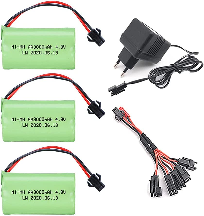4.8V 3000mAh RC Car Toy Charger Cable Battery with Soldering Arlington Mall