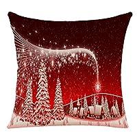 """Materiale: lino Dimensioni: 45cm*45cm/45,7x 45,7cm Decora la tua casa con questi bellissimi cuscini Questi cuscini federe sono brillanti di Natale in colori vivaci con graziose stampe di Natale per darvi che """"natalizio"""" Feel Si prega di notare ch..."""