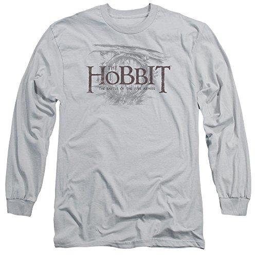 Hobbit - Herren-Tür-Logo T-Shirt, X-Large, Silver