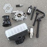 AISEN 1123-120-0605 Carburateur pour tronçonneuse Stihl MS230 MS230C MS250 MS250C Remplace Walbro WT-215