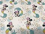 textil pertex Disney Minnie meerjungfrau 100% popeilna