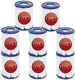 BEMAL Cartucho de filtro de piscina tipo II para Bestway 58094, paquete con 2 filtros para bomba, bomba de piscina, filtro de cartucho, 136 x 106 mm (8 unidades)