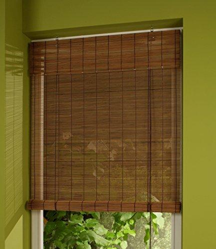 cg-sonnenschutz Bambusrollo Bambus Holzrollo Kirschbaum/Braun (120 x 160 cm)
