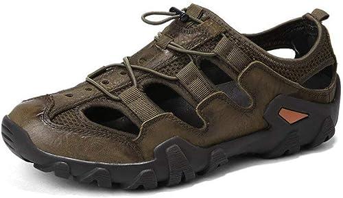 Fuxitoggo Sandales d'extérieur, Chaussures d'été intercalaires, Chaussures en néoprène (Couleuré   on, Taille   41)