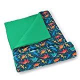 Wildkin Kids Sleeping Bags for Boys & Girls, Measures 57 x 30 x 1.5 Inches, Cotton Blend Materials Sleeping Bag for Kids, Ideal for Parties, Camping & Overnight Travel, BPA-Free (Jurassic Dinosaurs)